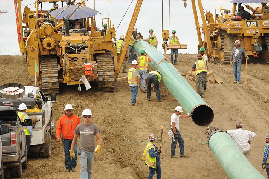 Workers on Dakota Access Pipeline