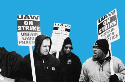 Huey Newton and strikers